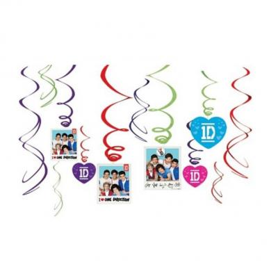 One Direction Hanging Swirl Decorations