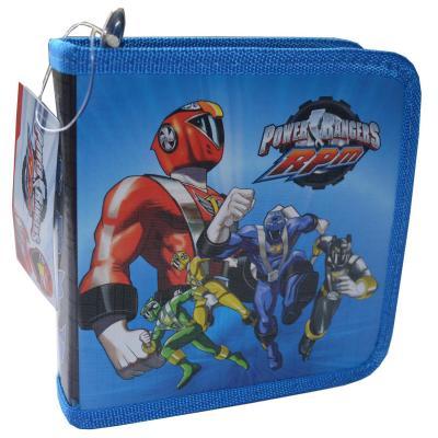 Power Rangers DVD Storage Case CD Wallet New Licensed Blue