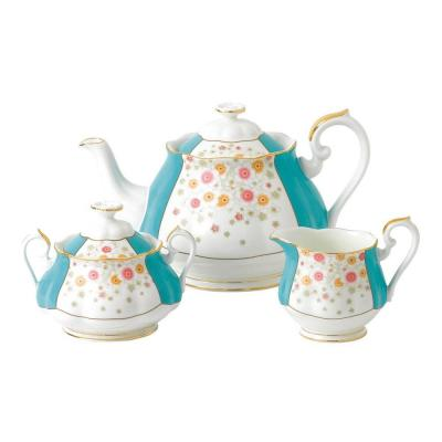 Royal Albert 100 Years 1930 Teapot, Cream & Sugar