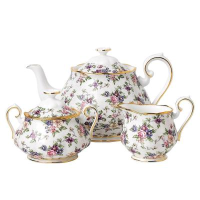 Royal Albert 100 Years Teaware 1940 Teapot/Sugar/Creamer Set