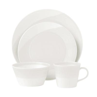 Royal Doulton 1815 White 16 pcs Porcelain Dinner Ware Set