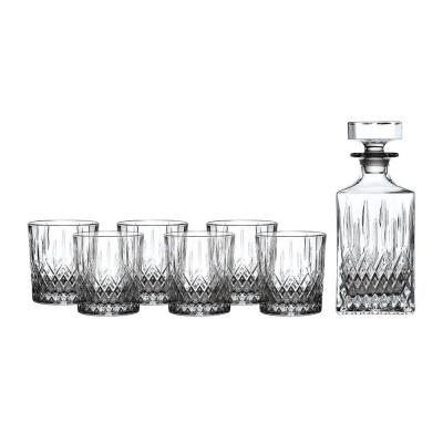Royal Doulton Earlswood Crystalline Whiskey Decanter Set: Decanter & 6 Tumblers