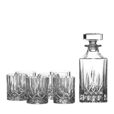 Royal Doulton Seasons Crystalline Whiskey Decanter Set | Decanter + 6 Tumblers