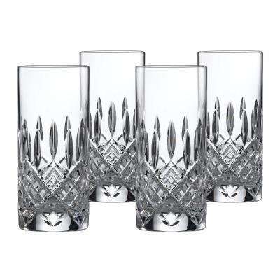 Royal Doulton Highclere Premium Crystal Highball Tumbler 390ml   Set Of 4 Glasses