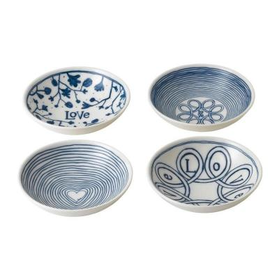 Royal Doulton ED Ellen DeGeneres Porcelain Bowl 14cm Blue Love | Set of 4