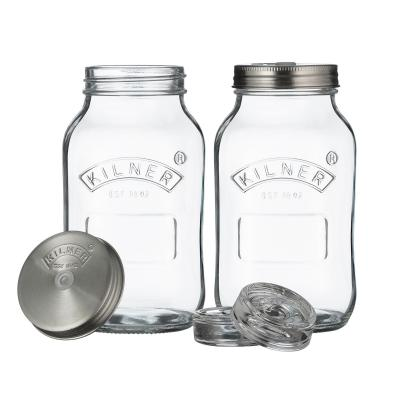 Kilner Set Of 2 1 Litre Fermentation Jar