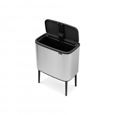 Brabantia BO Touch Bin 36L Finger Print Proof | Matte Steel
