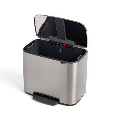 Brabantia BO Pedal Bin 36L FingerPrint Proof | Matte Steel