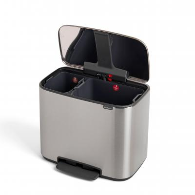 Brabantia BO Pedal Bin 11/23L FingerPrint Proof | Matte Steel
