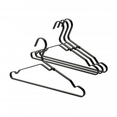 Brabantia Aluminum Clothes Hanger Set o f 4 | Black