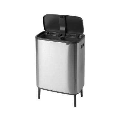 Brabantia BO Touch Bin 2X30L FingerPrint Proof | Matte Steel