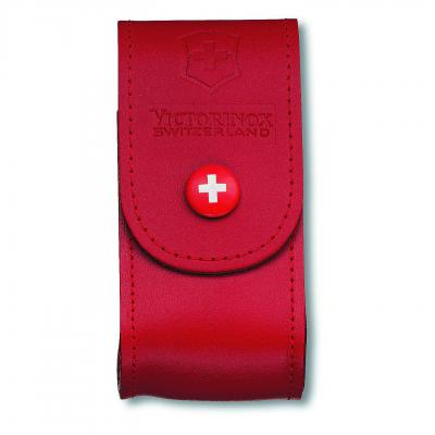 Victorinox SAK Red Leather Pouch 5-8 Layers