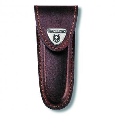 Victorinox SAK Brown Leather Pouch 2-4 Layer
