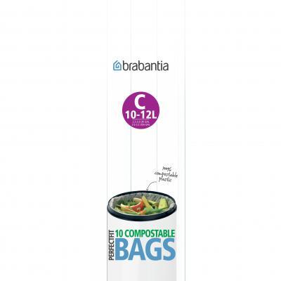 Brabantia PerfectFit Bags Roll C Compostable 10-12L | Green