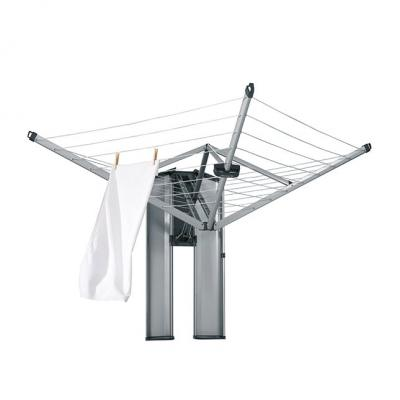 Brabantia Wall Fix Fold Away Clothes Line with Protection/Storage Box |Grey