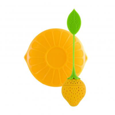 Avanti Silicone Tea Infuser With Lid Yellow 2 piece