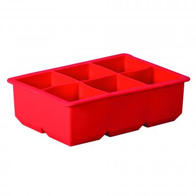 Avanti Silicone 6 Cup King Ice Cube Tray Red