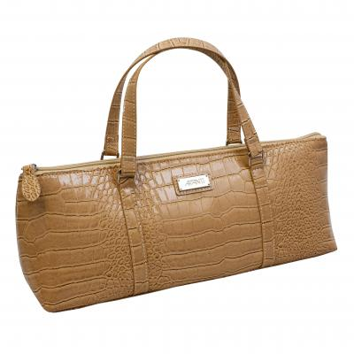 Avanti Insulated  Wine Purse | Beige Crocodile