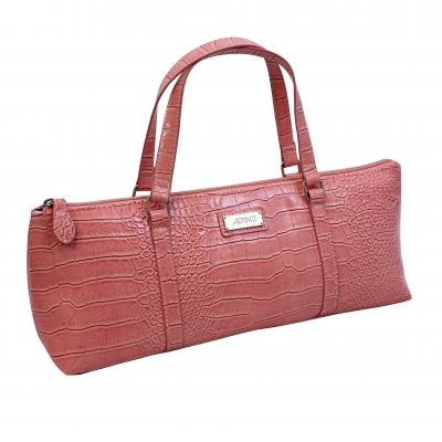 Avanti Insulated Wine Purse | Pink Crocodile