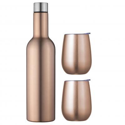 Avanti Wine Beverage Traveller Set | Rose Gold