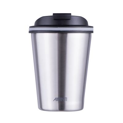 Avanti Go Cup Double Wall Stainless Steel Travel Cup 280ml - Brushed