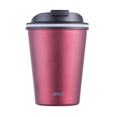 Avanti Go Cup Double Wall Stainless Steel Travel Cup 280ml - Ruby Red