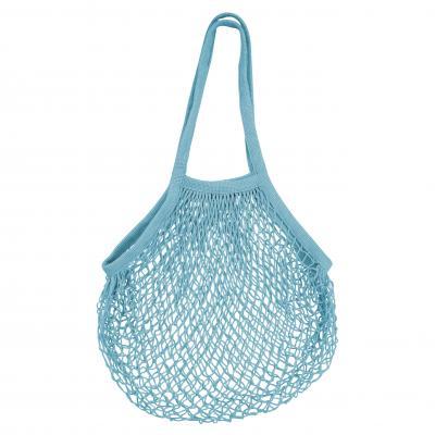 Karlstert Ecobags String bag Natural Cotton Long   Blue