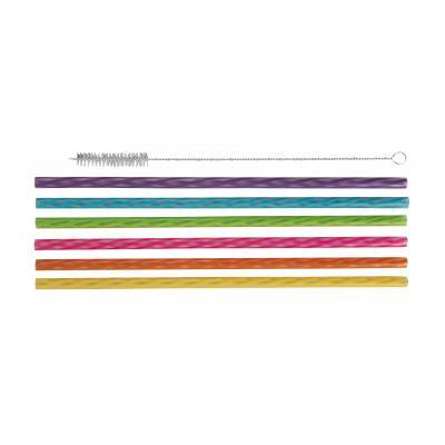 Avanti Reusable Straws Rainbow Set of 24