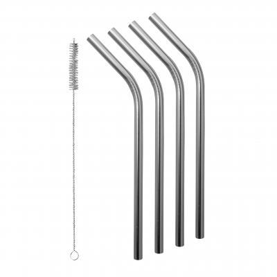 Avanti Smoothie Stainless Steel Straws - Set Of 4