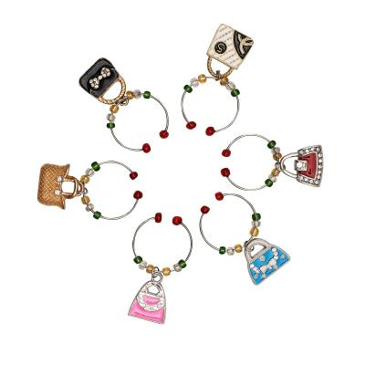 Avanti Wine Charms-Handbags Set Of 6