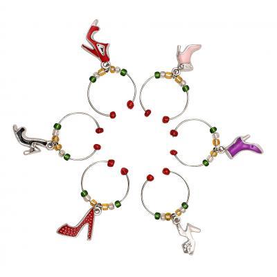 Avanti Wine Charms - Shoes Set Of 6
