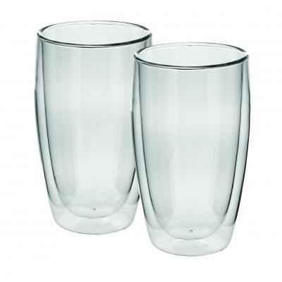 Avanti Caffe Twin Wall Glass 400ml 2pc Set