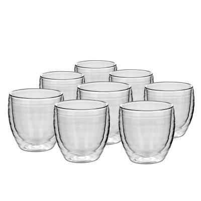 Avanti Ripple 250ml Twin Wall Glass  8 pcs Set