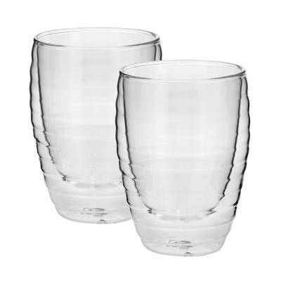 Avanti Ripple 320ml Twin Wall Glass  2 pcs Set