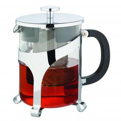 Avanti Contempo Tea Press 4 Cups 600ml Tea Pot Glass Chrome