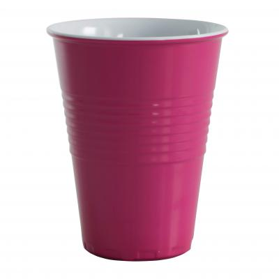 Avanti Miami Melamine 2/Tone 400ml Cup-F Pink