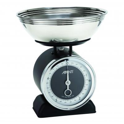 Avanti Vintage Mechanical Kitchen Scales Black   5kg