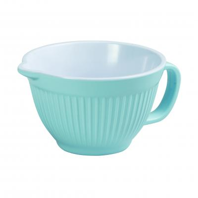 Avanti Melamine Ribbed Mixing Bowl with Handle 16cm/1L-DUck Egg Blue