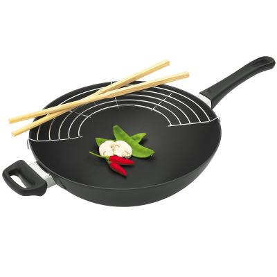 Scanpan Classic 32cm Wok with Rack and Chopsticks