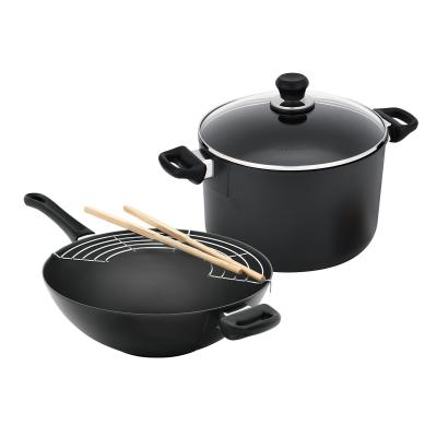 Scanpan Classic 2 Piece Cookware Set - 32cm Wok + 26cm Dutch Oven