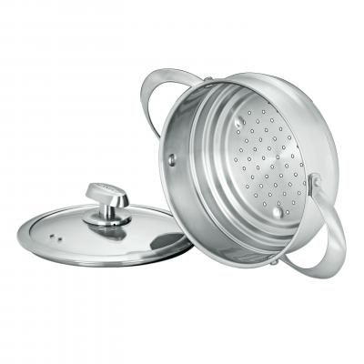 SCANPAN CLAD 5 16/18/20cm Steamer with Lid
