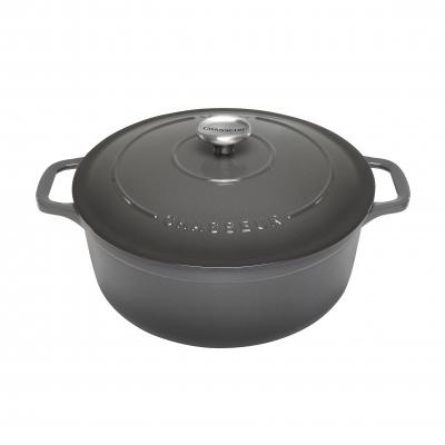 Chasseur Round French Oven 24cm/3.8L Caviar