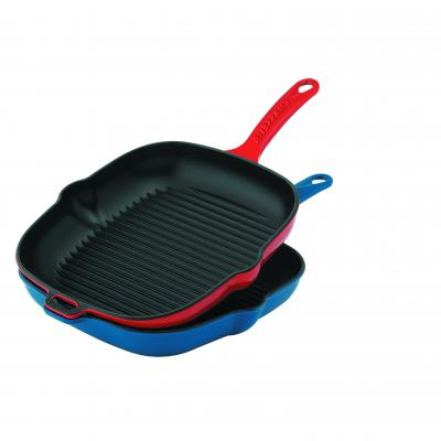 CHASSEUR Square Grill Pan 25cm | Inferno Red
