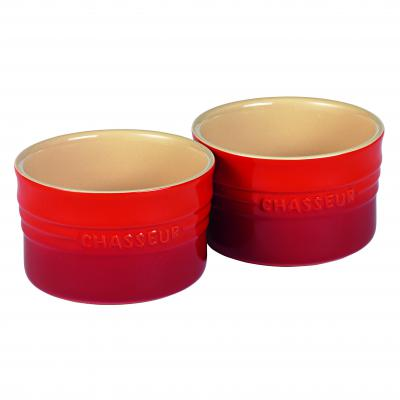 Chasseur La Cuisson Ramekin Set of Two 10cm x 6cm | Red