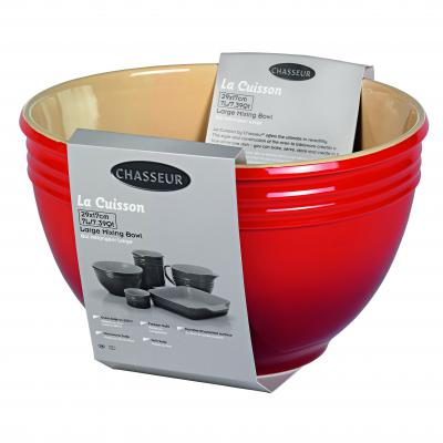 CHASSEUR Large Mixing Bowl 29 x 17cm/7 Litre | Red