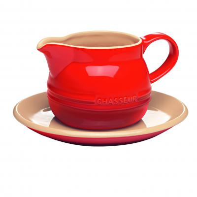 Chasseur La Cuisson Gravy Boat with Saucer 450ml | Red