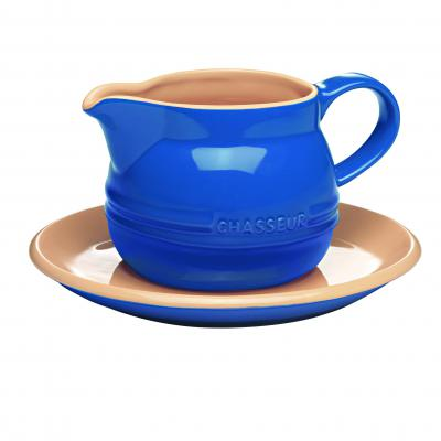 CHASSEUR La Cuisson Gravy Boat with Saucer 450ml | French Blue