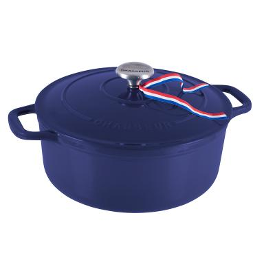 Chasseur Round French Oven 24cm/3.8 Litre Blue