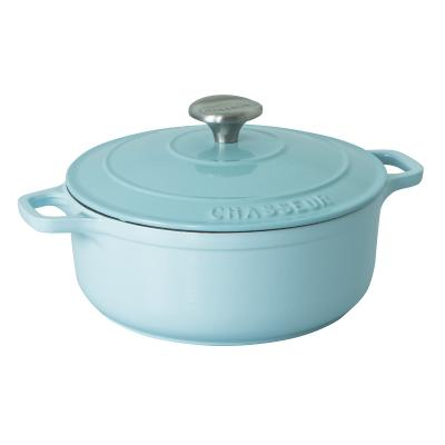 Chasseur Round French Oven 24cm/3.8L Duck Egg Blue