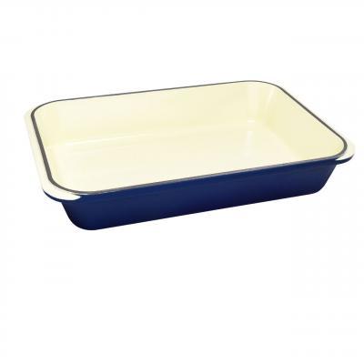 CHASSEUR Rectangular Roasting Pan 40 x 26cm | French Blue